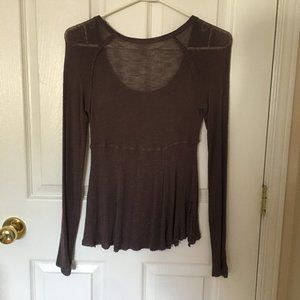 Free People Purple Scoop Ballet Neck Sweater